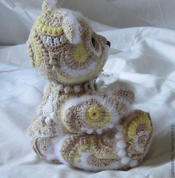 Freeform crochet teddy bear!