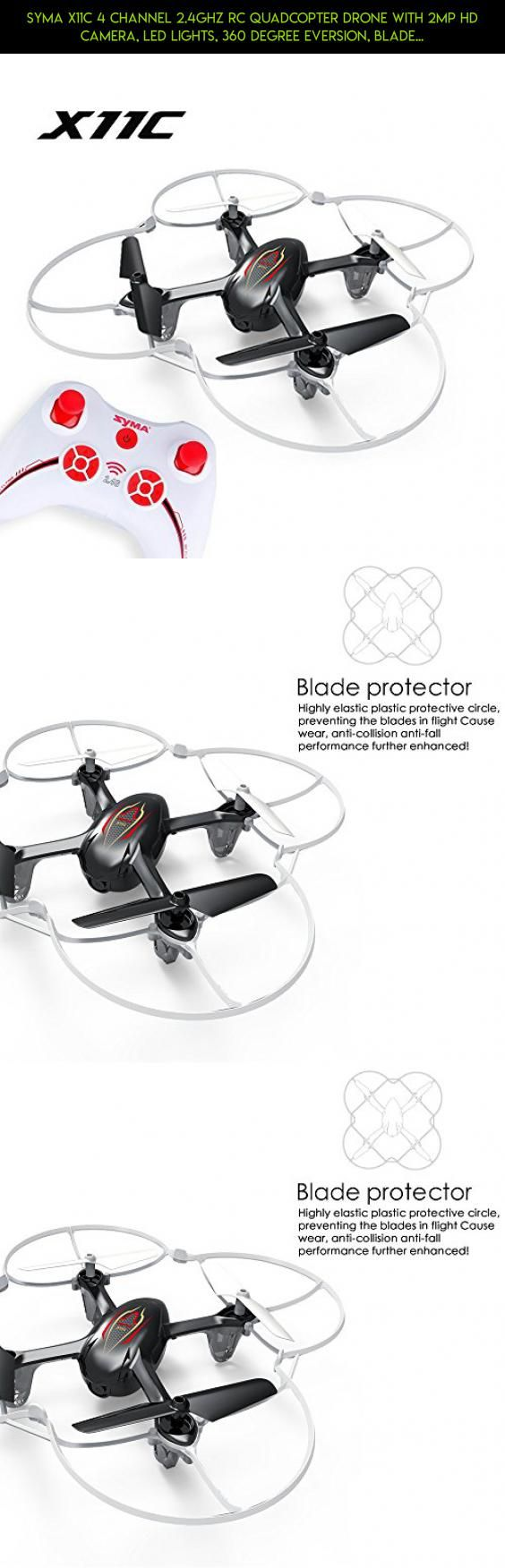 Syma X11C 4 Channel 2.4Ghz RC Quadcopter Drone with 2MP HD Camera, LED Lights, 360 Degree Eversion, Blade Protector (Black) #x5sw #camera #2.4g #gadgets #shopping #tech #plans #fpv #parts #with #kit #wi-fi #quadcopter #syma #camera #products #racing #technology #control #remote #drone