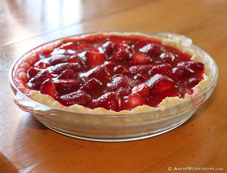 Amish strawberry pie recipe.