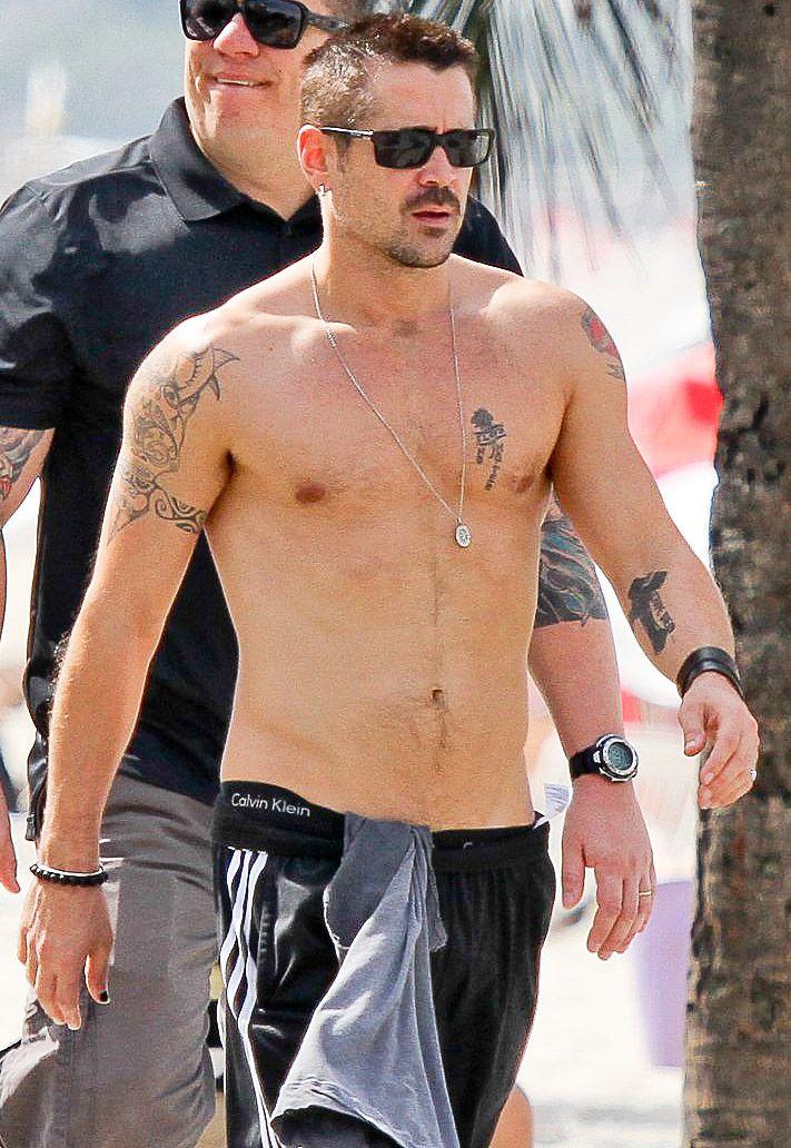 Colin Farrell in Rio de Janeiro, Brazil on July 11, 2012....aah . My bad boy!!! ❤