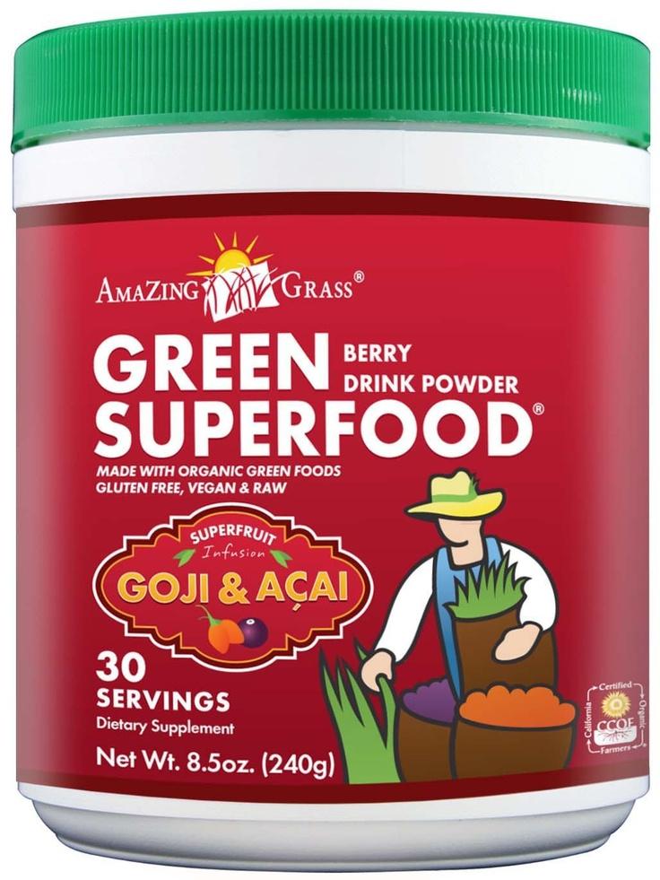 Amazing Grass Green SuperFood Powder, Berry Superfruit. #glutenfree