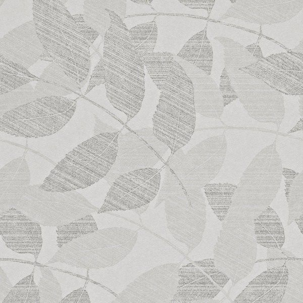 Grey and Silvery Leaves Wallpaper 226SW330