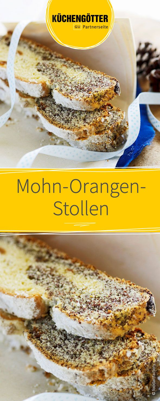Rezept für Mohn-Orangen-Stollen zu Weihnachten