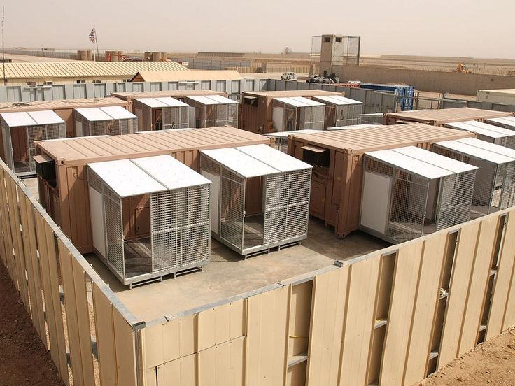 Containerized K9 Kennels on a military base