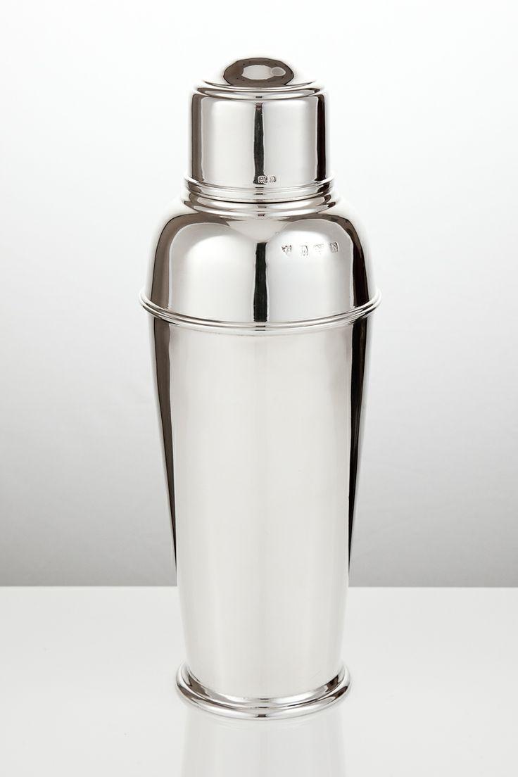 Silver cocktail shaker - vintage deco example. silvervaultslondon.com
