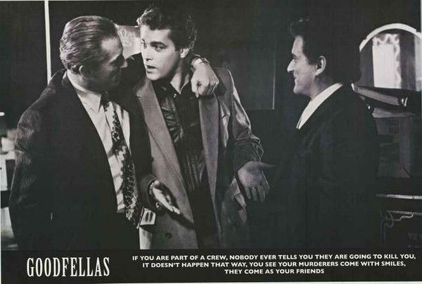 An awesome Goodfellas movie poster! Includes the quote from the film about being…