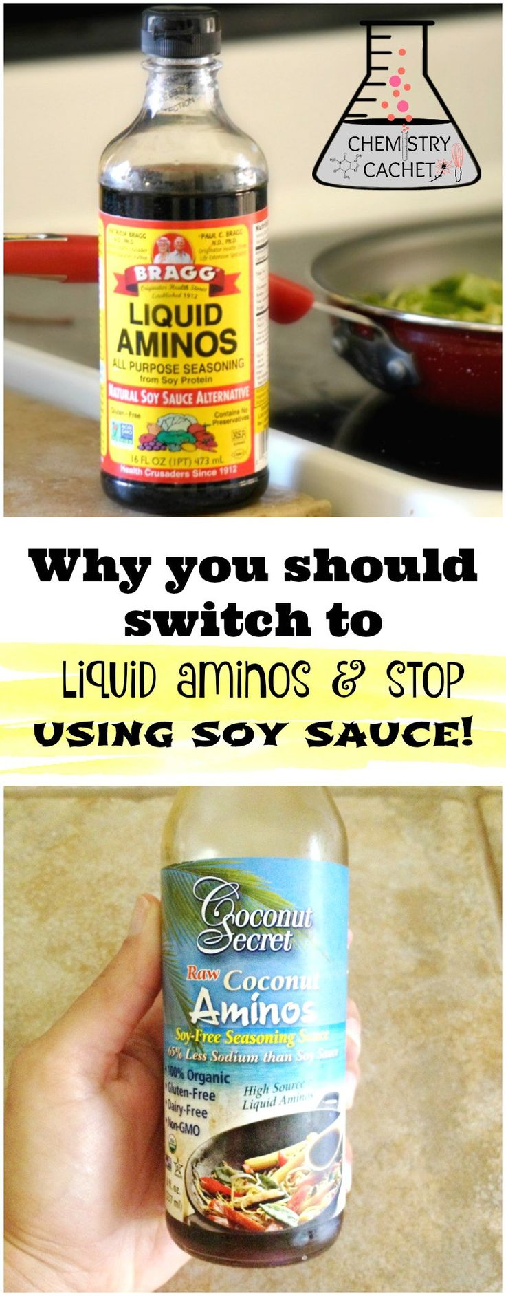 What Exactly Are Liquid Aminos Plus Why It's Better Than Soy Sauce...and why should you stop using soy sauce Important chemist tips on chemistrycachet.com