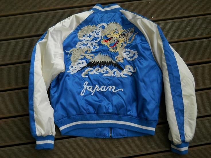 MEN'S JAPANESE TOUR JACKET SOUVENIR Dragon Embroidered JACKET bomber