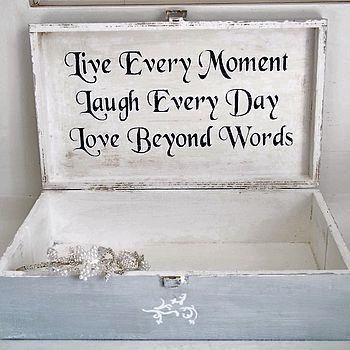 Personalised Vintage Style Keepsake Box