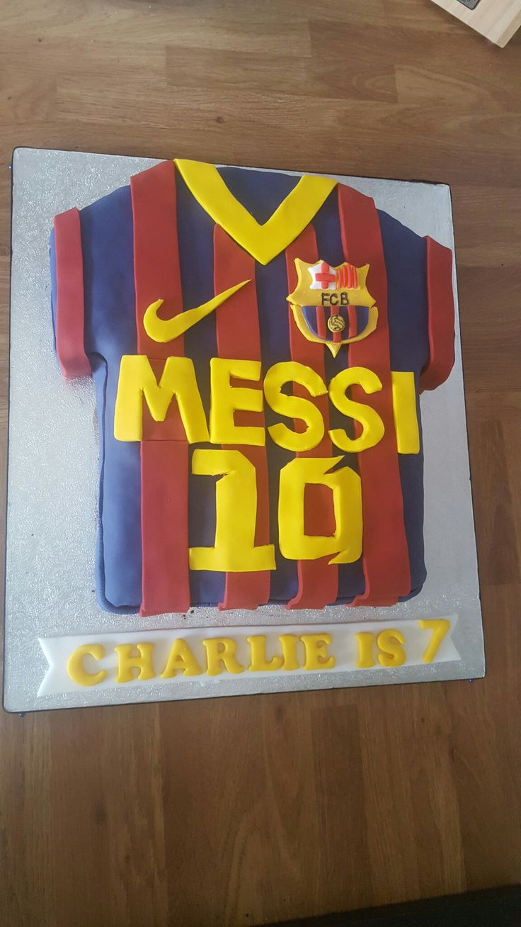 Messi barcelona shirt birthday cake