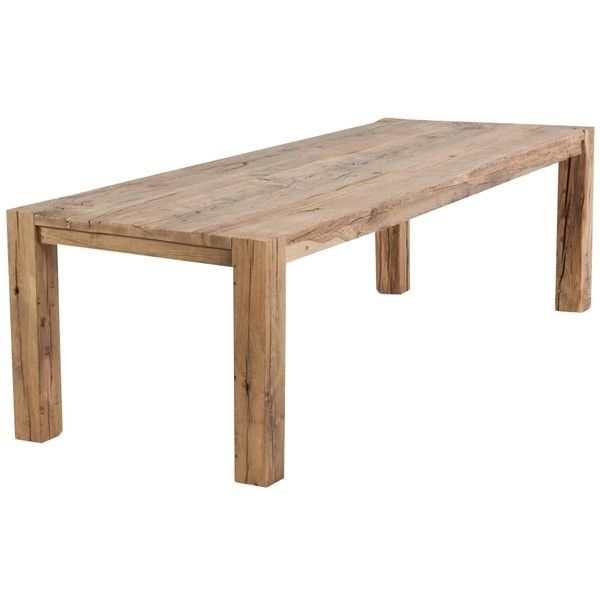 Amazing Chunky Reclaimed Oak Dining Table ($74) ❤ Liked On Polyvore Featuring Home,  Furniture