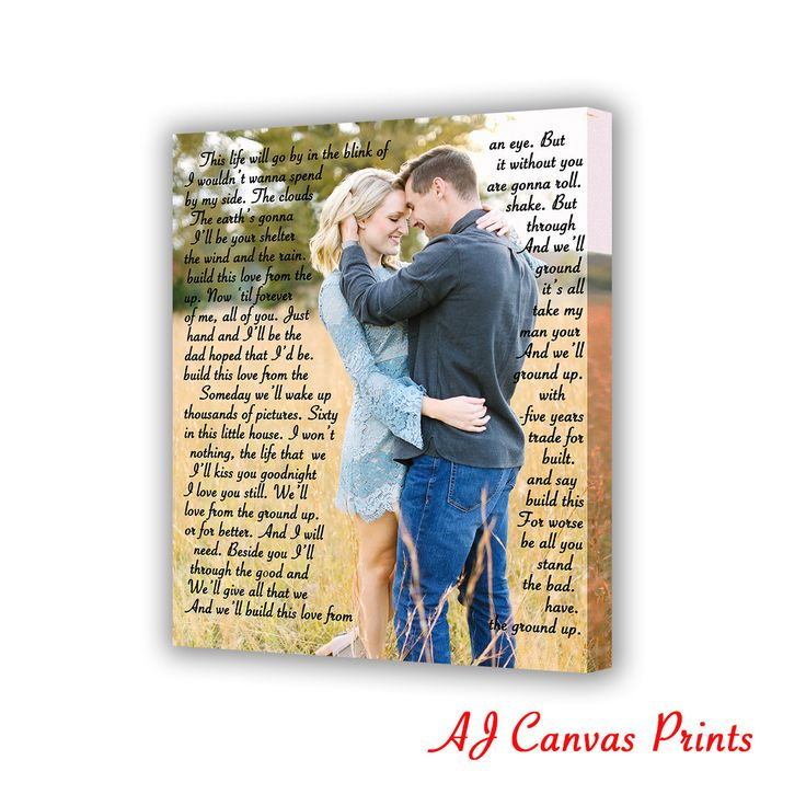 Give this a look : Song Lyrics to Canvas, Personalized Gift, First Dance Lyrics on Canvas, Valentine Gift Idea, Wedding vows, first wedding anniversary gift https://www.etsy.com/listing/493233036/song-lyrics-to-canvas-personalized-gift?utm_source=crowdfire&utm_medium=api&utm_campaign=api
