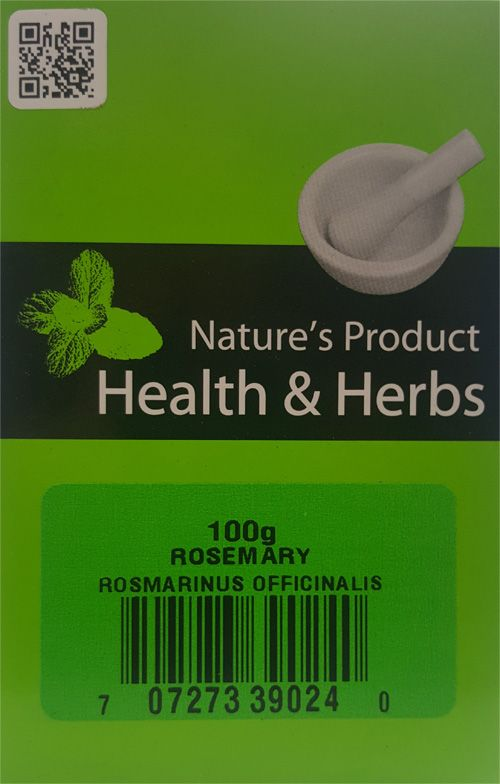 Natures Product Health & Herbs Rosemary 100g Rosmarinus Officinalis