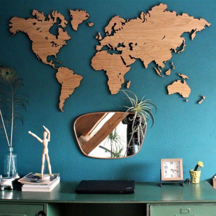 Wooden World Map Wall Art For Living Room Or Office Decor Maps Homedecor Wallart World Map Wall Decor World Map Wall Art World Map Wall