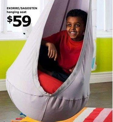 New Fun IKEA Swing Complete Set Hanging Chair Hammock Ekorre Air Pillow Hooks | eBay, sensory swing