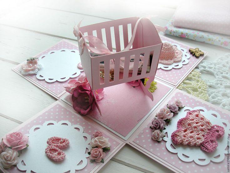 Купить Меджик бокс для подарка для новорожденной - для девочки, подарок новорожденной, меджик бокс, мэджик бокс