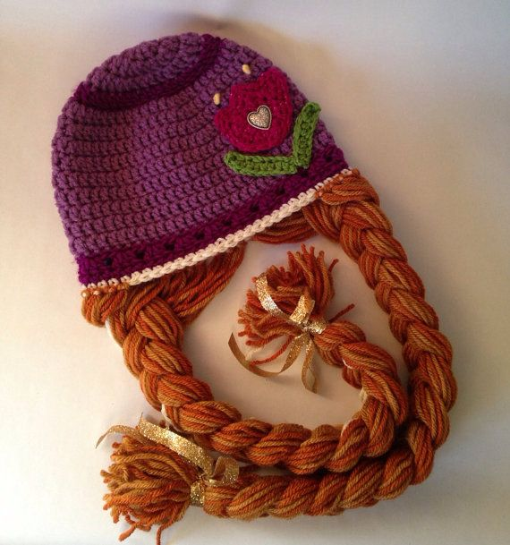 Crochet Pattern Anna Hat : Frozen Anna Hat, Princess Anna Hat Frozen crochet, Hats ...