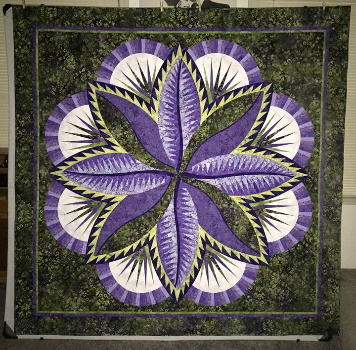 Fire Island Hosta, Quiltworx.com, Made by Diane Mitchell.