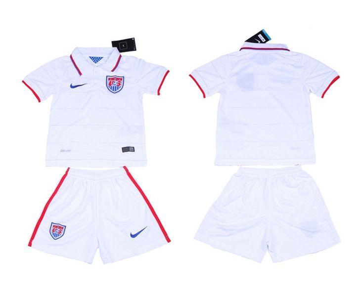 USA Maglie Calcio Mondiali 2014 Bambini Set Casa