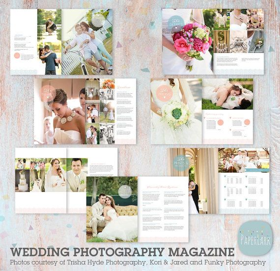 Wedding Photography Magazine 22 Page Template by PaperLarkDesigns