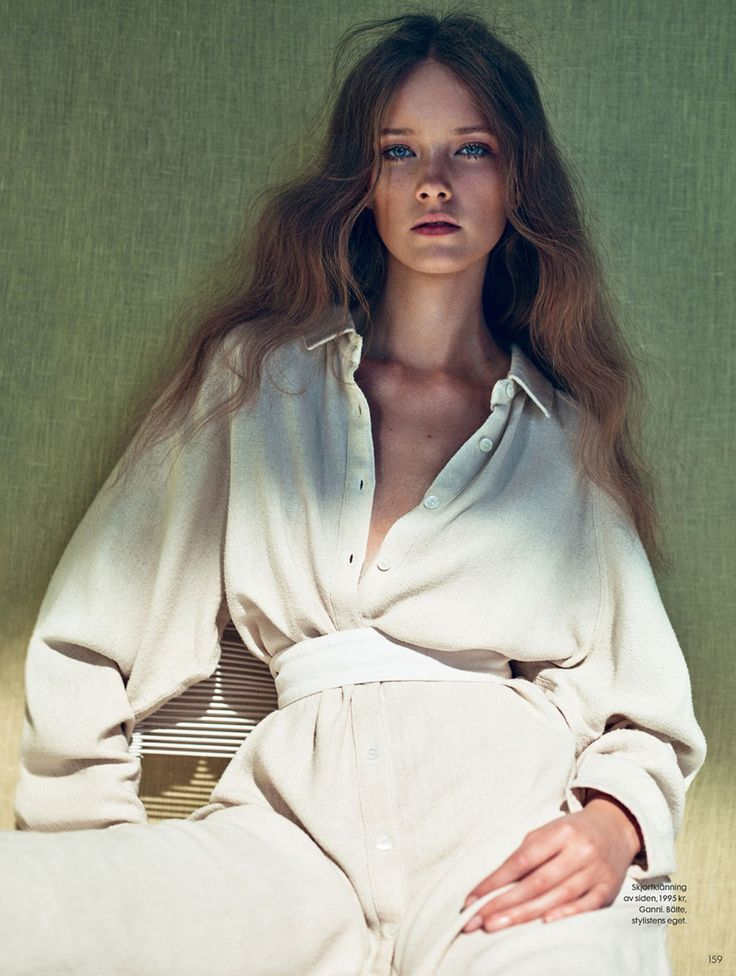 visual optimism; fashion editorials, shows, campaigns & more!: vårljus: mildred gustafsson by boe marion for elle sweden may 2015