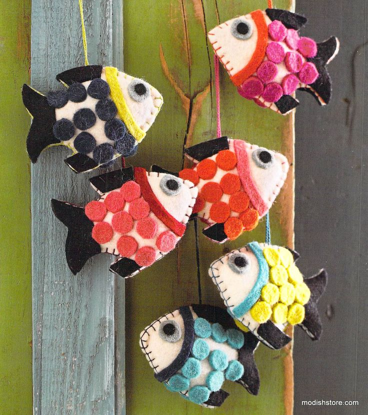 Roost Good Felted Fish Ornament – Modish Store