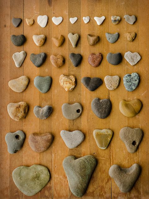 Heart Stones or Rocks from the Oregon Coast