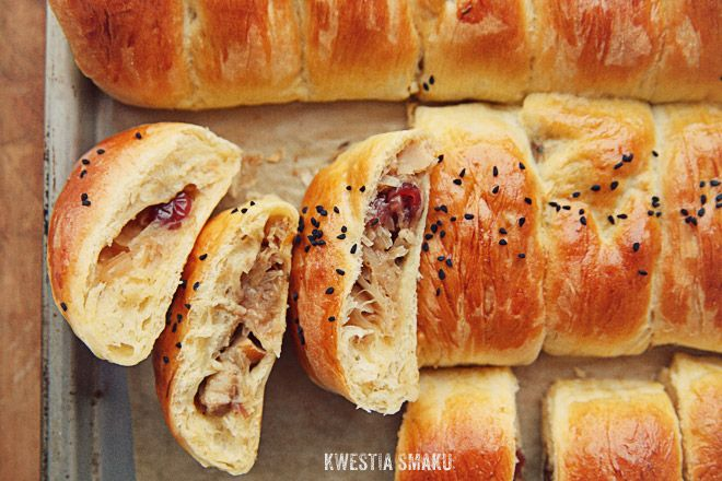 Mushroom, cabbage and dried cranberries filled pasties