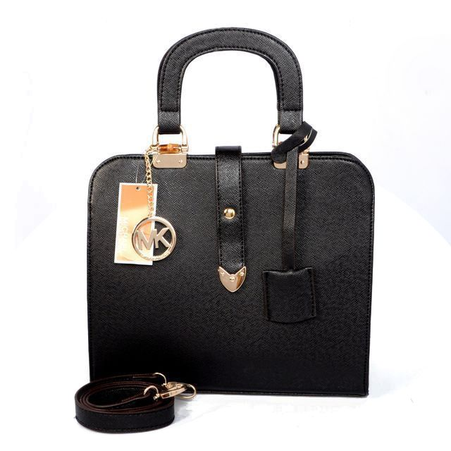 Michael Kors Outlet Pebbled Leather Medium Black Satchels -save up 80% off michael kors store online !!