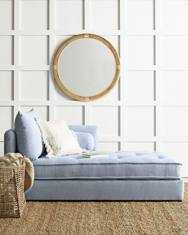 A cozy reading spot   Montara Mirror via Serena and Lily