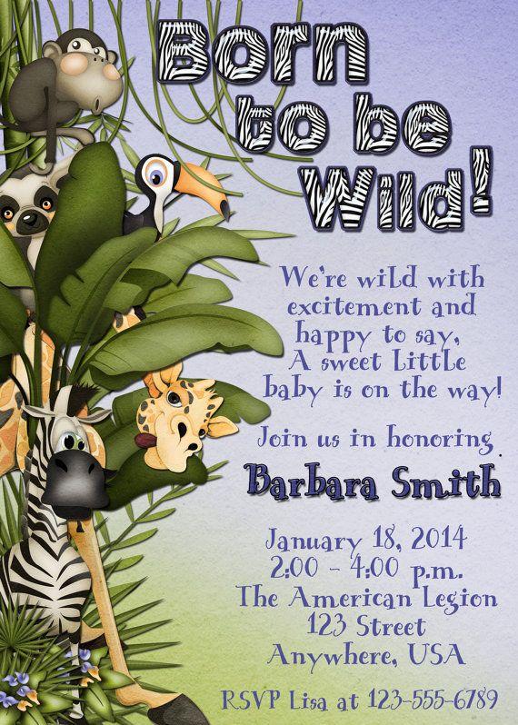 Jungle Baby Shower invitation by DecidedlyDigital on Etsy, $15.00