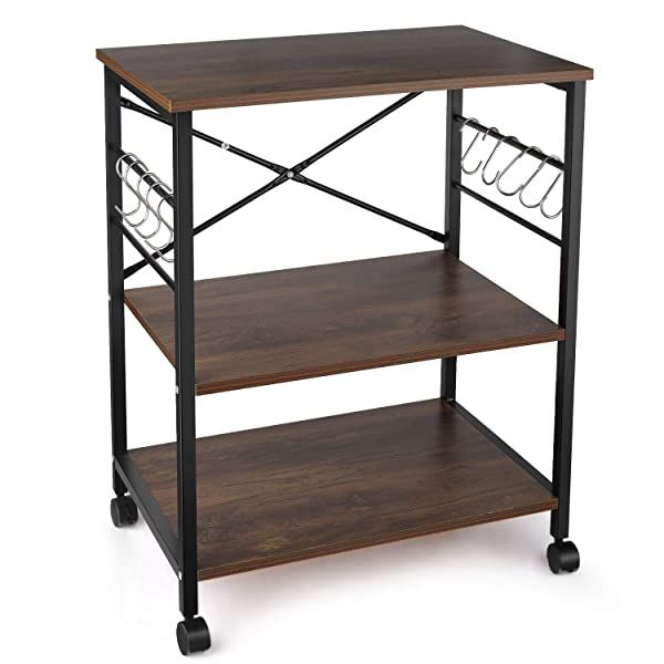 Stand with Storage On Casters
