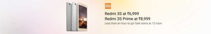 Flipkart DEAL : Redmi 3s and 3s prime available with extra 10% off with Axis Bank card at Flipkart. Checkout Deal - http://www.voucherscode.in/flipkart-coupons
