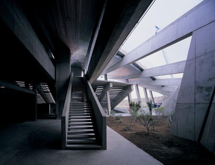 Staircase into Insular Athletics Stadium, designed by Felipe Artengo, Fernando Menis, José Maria Rodriguez Pastrana #architecture