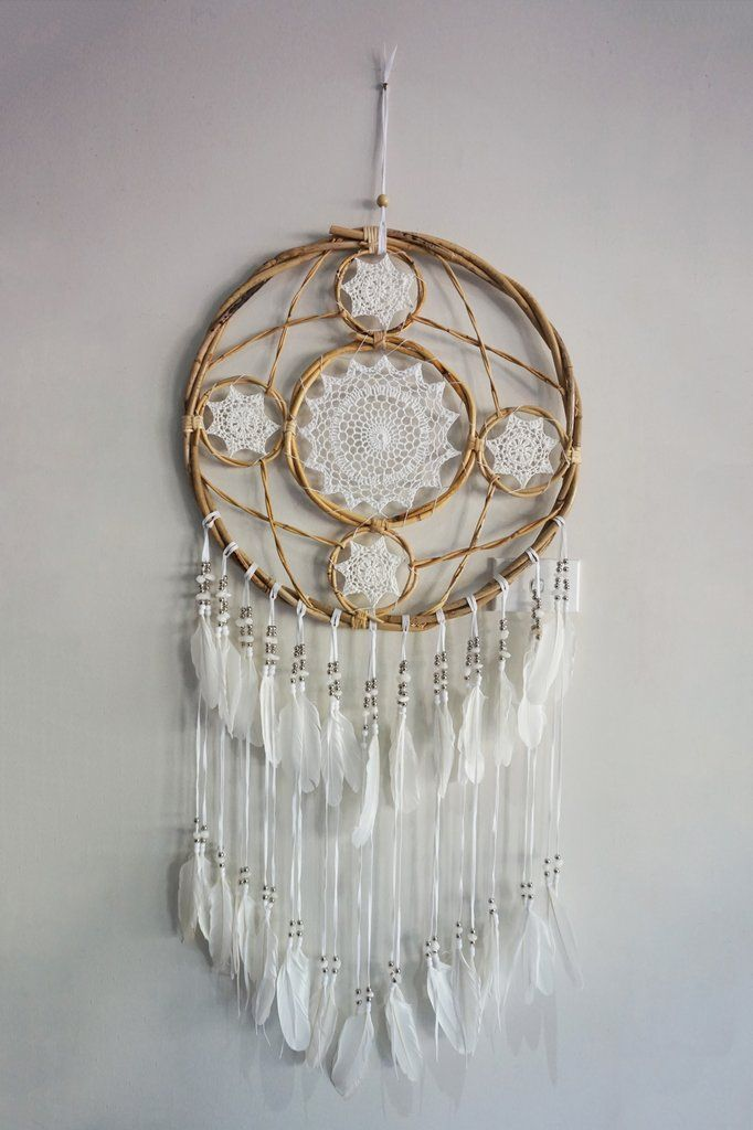 Bamboo Circle Dream Catcher Large With Images Dream Catcher