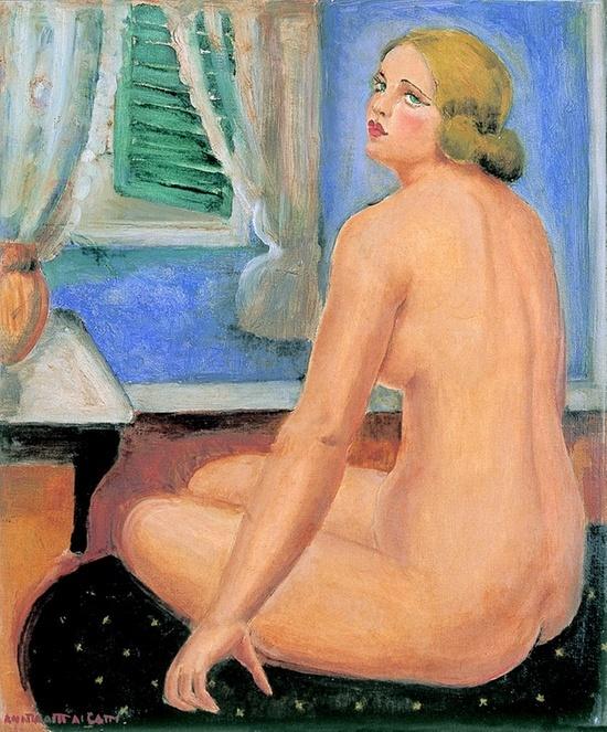La chambre bleue  Anita Malfatti  1925  Óleo sobre tela