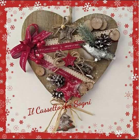 Cuore di Natale by Il Cassetto dei Sogni. . https://www.facebook.com/Il-Cassetto-dei-Sogni-1890162974542736/