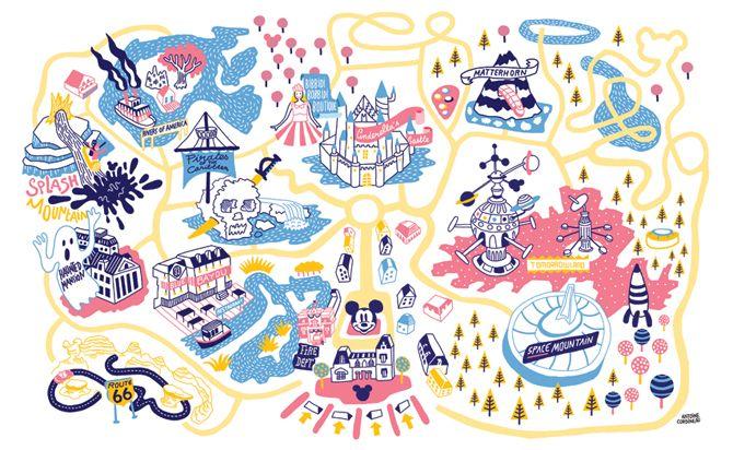 Disneyland • Antoine Corbineau • Illustration, Art & Design •