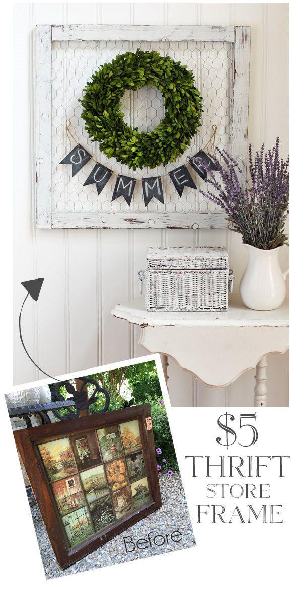 The best $5.00 thrifty farmhouse transformations! www.littlehouseoffour.com