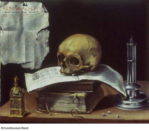 Sebastian Stoskopff, Vanitas-Stillleben mit Totenkopf, 1630, Ol auf Leinwand, 50.3 x 59.7 cm, Kunstmuseum Basel