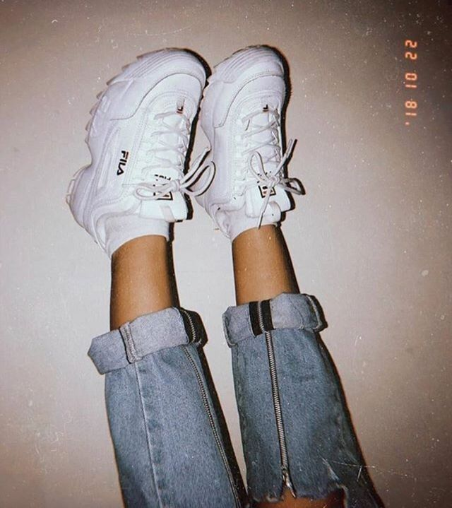 Aesthetic shoes, Fila sneakers shoes