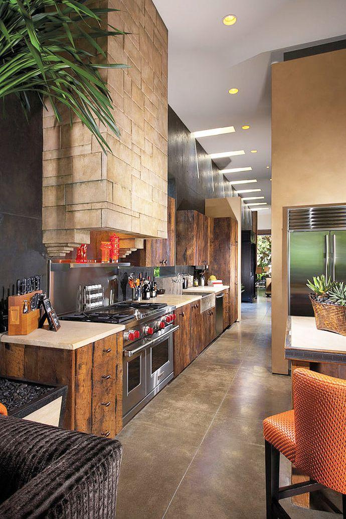 ♂ Rustic interior design Kitchen area