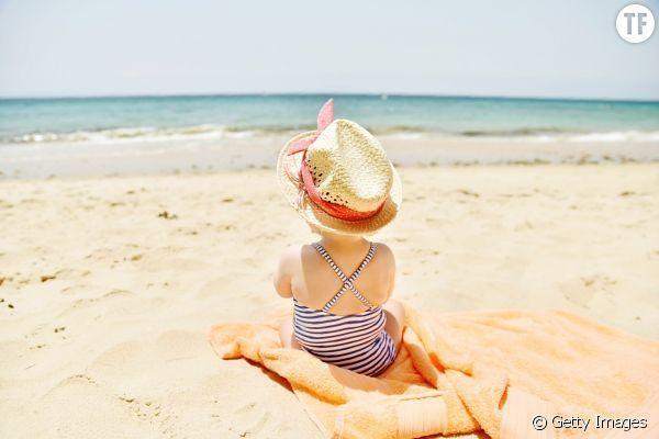 Ein Duschvorhang Am Strand Der Clevere Trick Um Die Kinder Zu