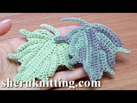 Crochet Leaf How to Tutorial 24 Part 2 of 2 Single Crochet Stitches Worked In Back Loop - YouTube