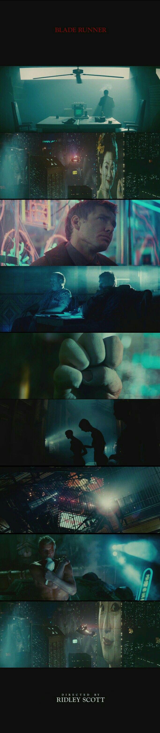 Blade Runner(1982) Directed by Ridley Scott. Cinematography by Jordan Cronenweth.