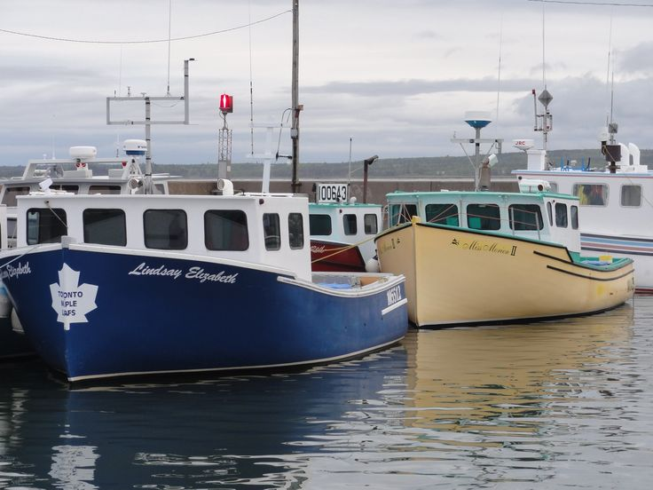 Boats from the Port Morien Warf, Cape Breton