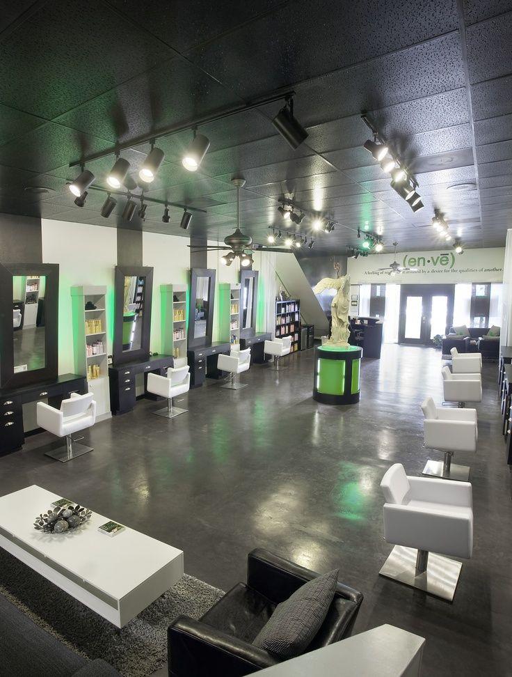 Modern salon stations salon workspaces pinterest for Salon workspace