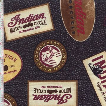Open Road by Indian Motorcycle International for Quilting Treasures ~ Embrace the spirit of the open road with this collection honoring a giant of classic motorcycles! Follow this pin to the Fabric Shack to see the entire collection!