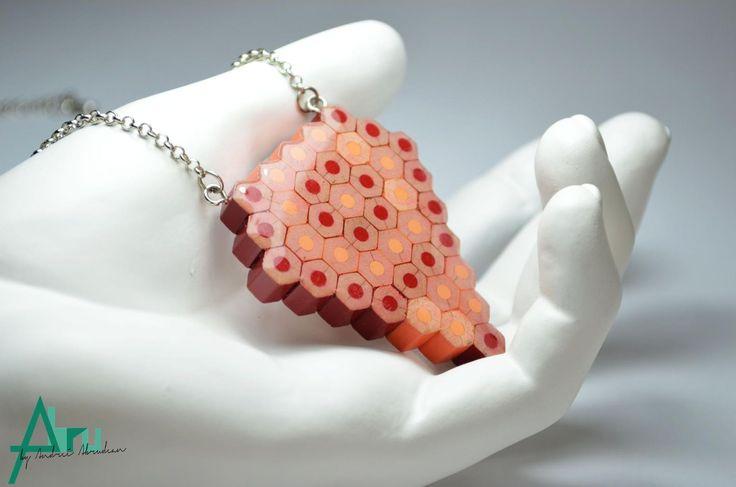 . Heart shaped . --- pencils + resin