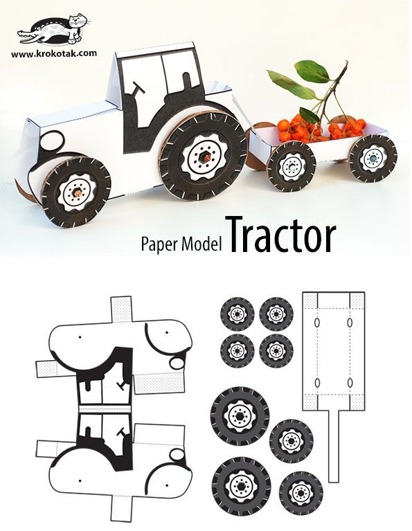 TRACTOR – paper model                                                                                                                                                                                 More